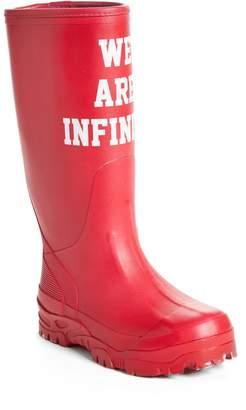 Undercover We Are Infinite Rubber Rain Boot