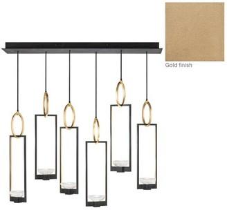 Fine Art Lamps Delphi 6-Light Cluster Pendant Fine Art Lamps