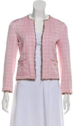 Chanel Silk Open Front Jacket