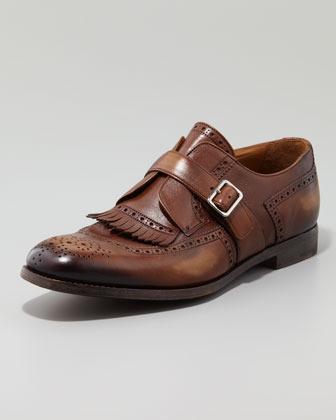 Prada Milano Collection Monk-Strap Loafer