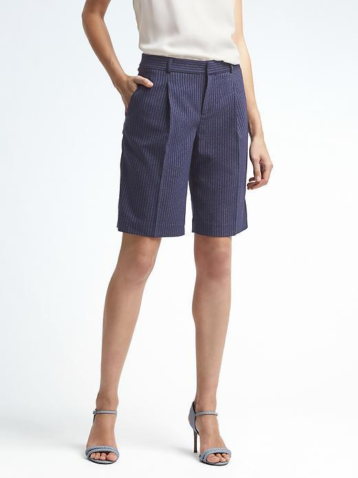 Banana Republic  Avery-Fit Pinstripe Bermuda Short