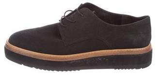Vince Suede Round-toe Oxfords