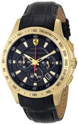 Ferrari Men's 0830042 Analog Display Japanese Quartz Black Watch