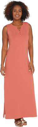 Denim & Co. Essentials Petite Sleeveless Knit Maxi Dress