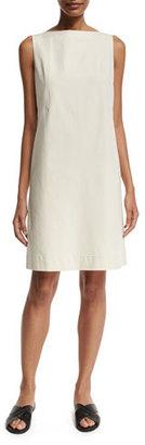 Lafayette 148 New York Kristianne Sleeveless Bateau-Neck Dress, Beige $478 thestylecure.com