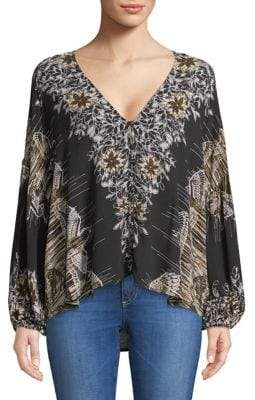 Free People Birds of a Feather V-Neck Blouse
