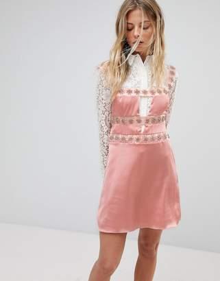 For Love & Lemons Opal Embellished Mini Dress