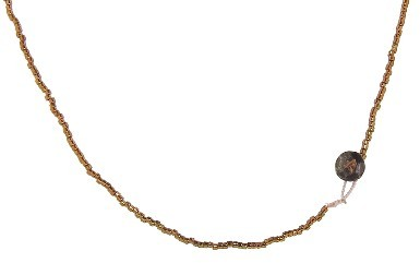 Other Designers Bronze Seed Bead Chain - 30''