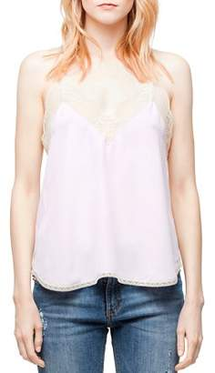 Zadig & Voltaire Christy Silk Camisole Top