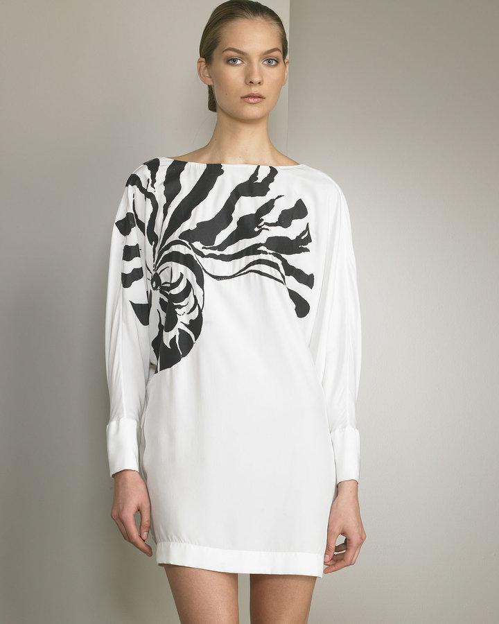 Stella McCartney Cowl-Back Silk Dress