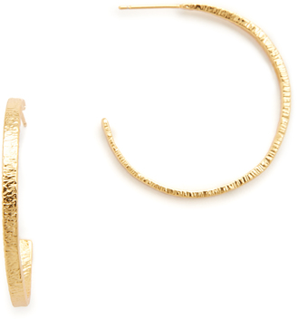 Gorjana Paloma Hoop Earrings $60 thestylecure.com