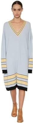Loewe Striped Wool Knit Sweater Dress