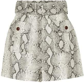 Zimmermann Corsage Safari linen shorts