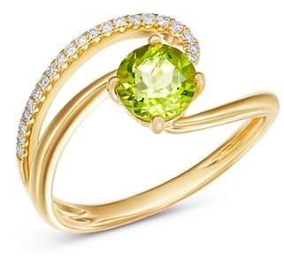 Bloomingdale's Peridot & Diamond Cocktail Ring in 14K Yellow Gold - 100% Exclusive