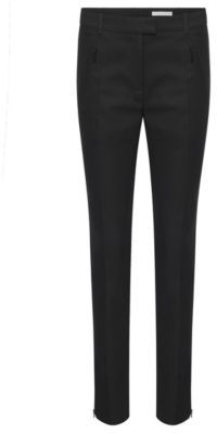Hugo Boss Anaita Cotton Zip Pocket Trousers 10 Black $275 thestylecure.com