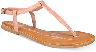 American Rag Krista T-Strap Flat Sandals, Only at Macy's $29.50 thestylecure.com