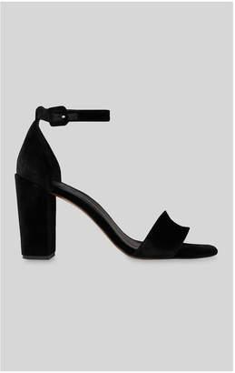 Whistles Alba Velvet Block Heel Sandal