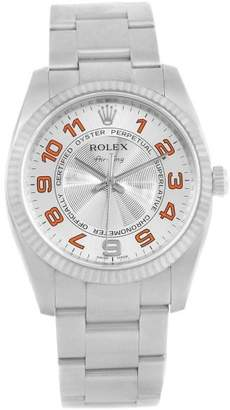 Rolex Air King 114234 Stainless Steel Silver/Orange Dial Automatic 34mm Unisex Watch