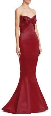 Zac Posen Sweetheart Neck Strapless Gown
