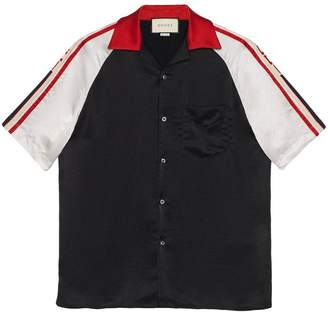 29134d6c0 Gucci Acetate bowling shirt with stripe