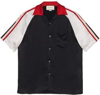Gucci Acetate bowling shirt with stripe