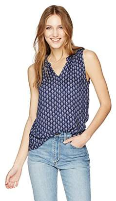 Velvet by Graham & Spencer Women's Sheer Printed Gauze Shell Tank
