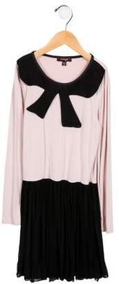 Imoga Girls' Mesh-Accented Long Sleeve Dress