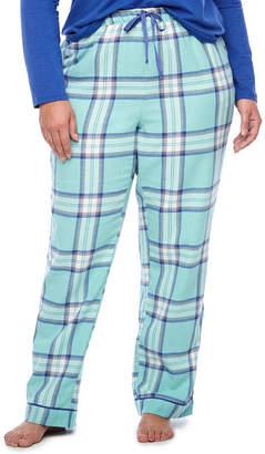 Liz Claiborne Flannel Pajama Pants-Plus