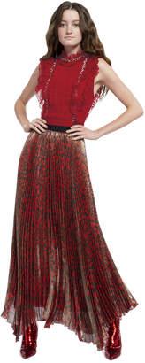 Alice + Olivia Katz Pleated Hem Skirt