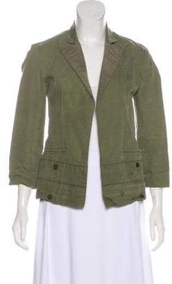 Greg Lauren Distressed Army Tent Blazer Olive Distressed Army Tent Blazer
