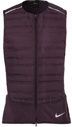 Nike Running Aeroloft Stretch Mesh-Jersey And Quilted Shell Down Gilet