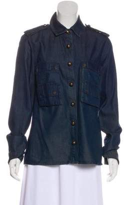 Lanvin x Acne Chambray Button-Up Top