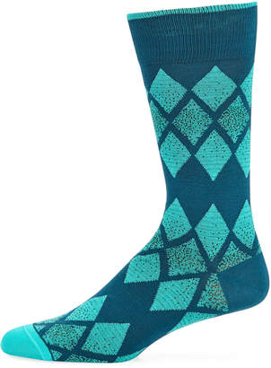 Bugatchi Men's Argyle Socks, Jade