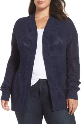 Caslon Braided Shoulder Cardigan