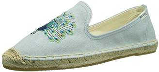 Soludos Women's Peacock Smoking Slipper Flat,5.5 M US