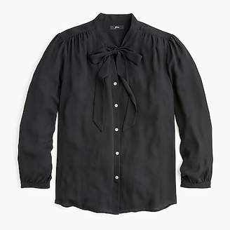 J.Crew Tie-neck button-up shirt