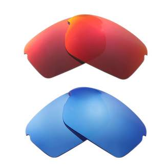 9961706dde Oakley Walleva Polarized Fire Red + Ice Blue Replacement Lenses For RPM  Squared Sunglasses