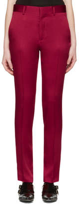 Haider Ackermann Red Classic Trousers