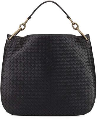 Bottega Veneta Large Loop Intrecciato Leather Shoulder Hobo Bag