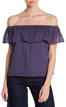 Lucky Brand Ruffle Off-the-Shoulder Blouse
