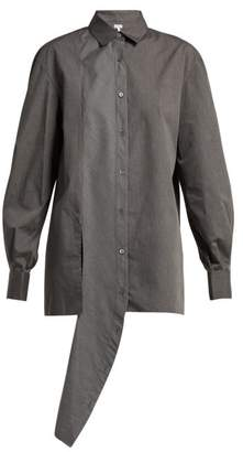 Loewe - Asymmetric Front Crepe Shirt - Womens - Grey