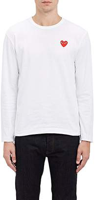 Comme des Garcons Men's Heart Patch Long-Sleeve T-Shirt