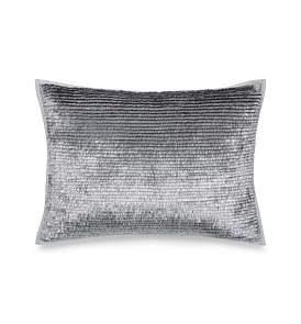 Calvin Klein Caspian Metallic Fringe Silver Cushion Cover 31 x 42Cm