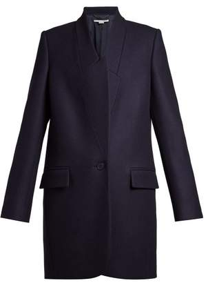 Stella McCartney Casandra Single Breasted Coat - Womens - Navy