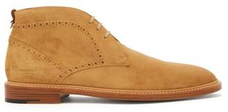 Burberry Barry Perforated Suede Chukka Boots - Mens - Tan