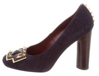 Marc by Marc Jacobs Studded Round-Toe Pumps