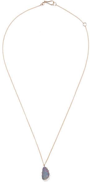 Melissa Joy Manning 14-karat Gold Opal Necklace