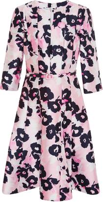 Oscar de la Renta Belted A-Line Dress $2,490 thestylecure.com