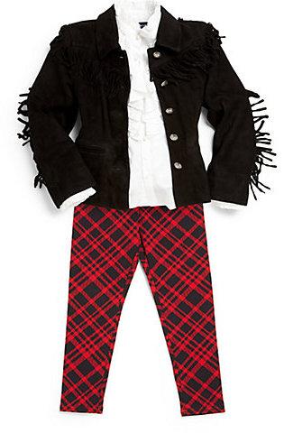 Ralph Lauren Toddler's & Little Girl's Fringe Suede Coat