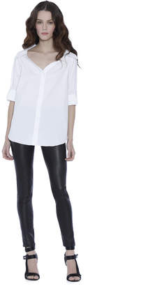 Alice + Olivia Finn Cross Back Cutout Blouse